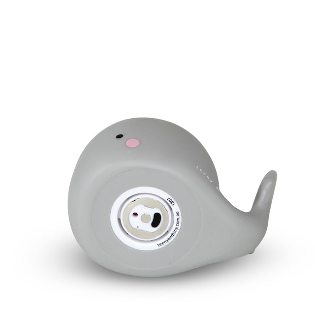 Whale rechargeable light - small, grey