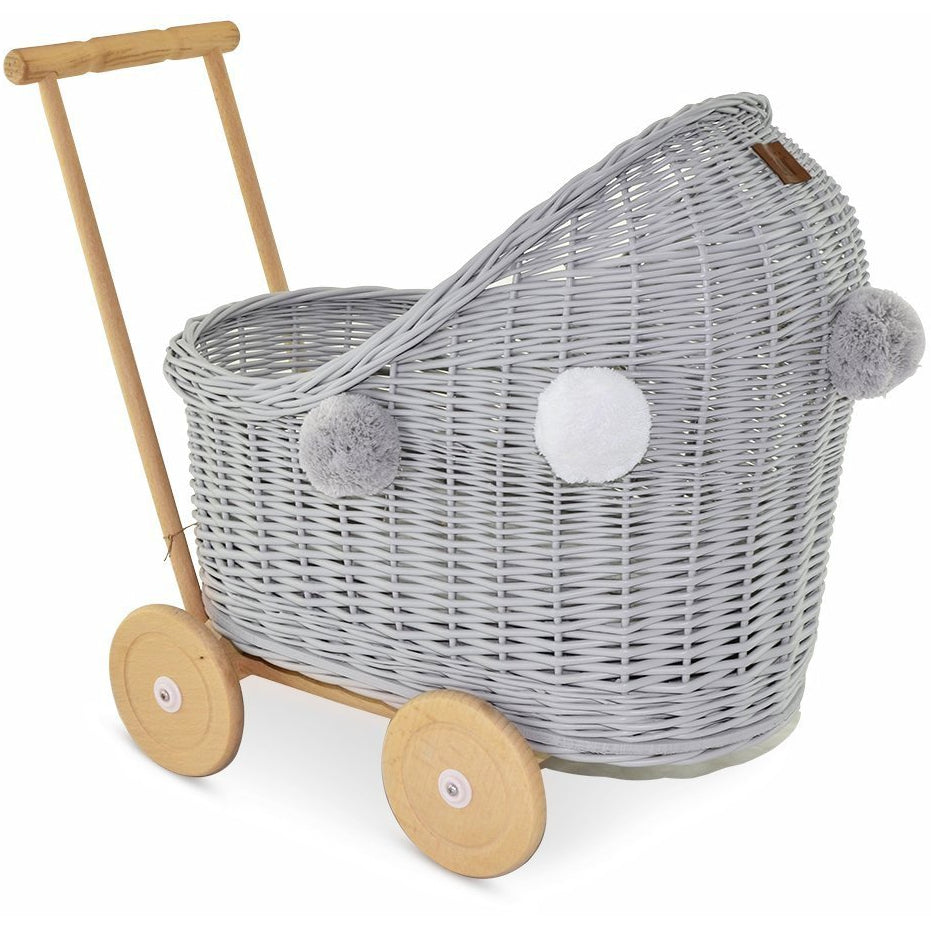 Wicker pram - Grey