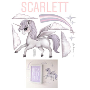 Scarlett the Pegasus - Wall decals