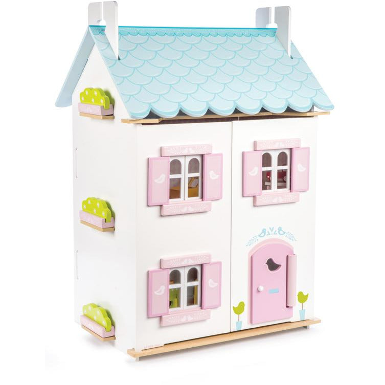 Daisylane Blue Bird Cottage with furniture Doll House