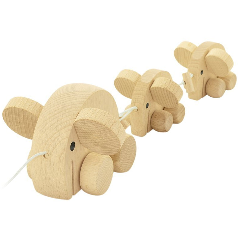 Pull along toy - elephants
