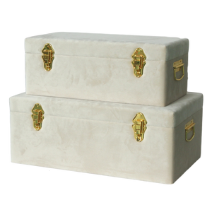 Storage case - Velvet luxe, bone