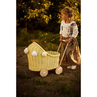 Wicker pram - Yellow