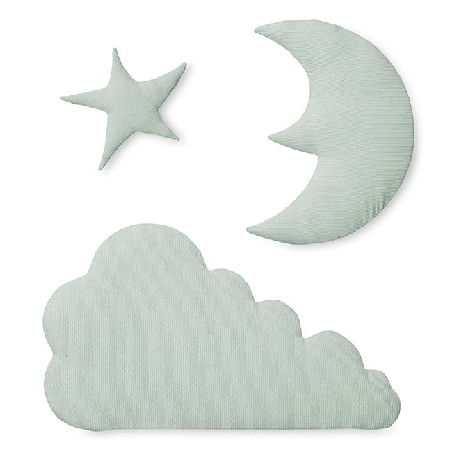 Cam cam Moon, star, cloud - wall decor, mint