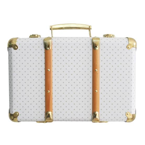 Mini vintage brief case - Grey spots