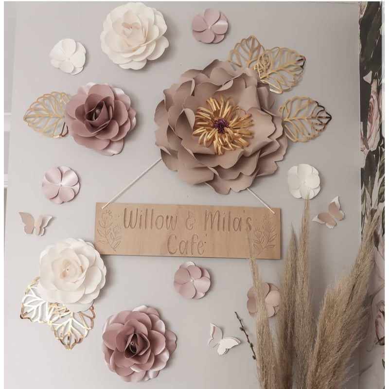 Paper flowers - Mila set