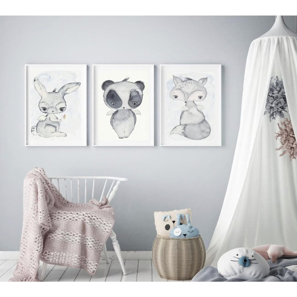 Wall Print  - Bunny, Panda and Fox (Set of 3)