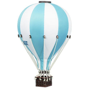 Decorative Hot Air Balloon, small - Aqua Blue