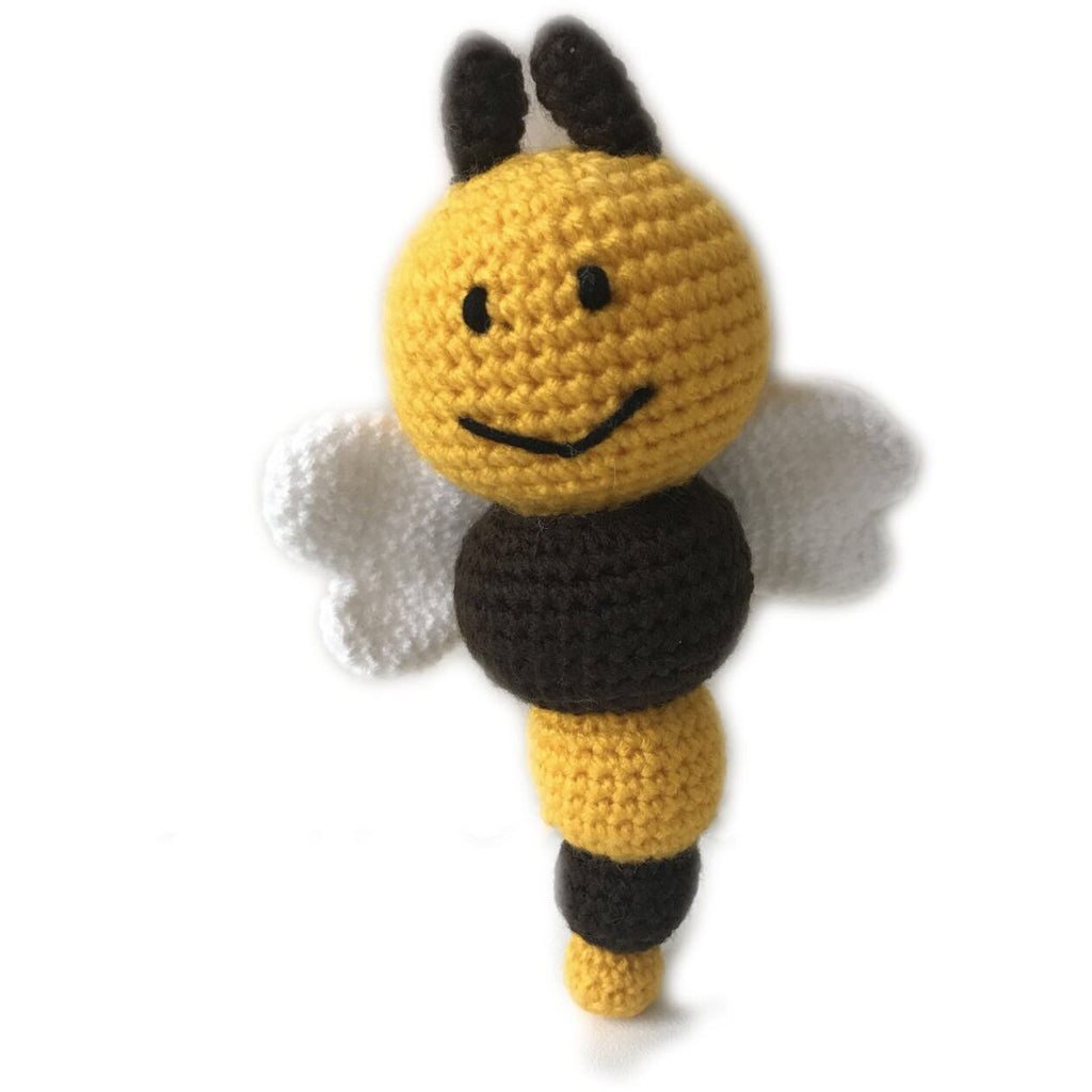 Crochet bee rattle - Beebee