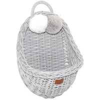 Wicker wall basket - Grey