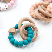 Rattle hex and silicone teether
