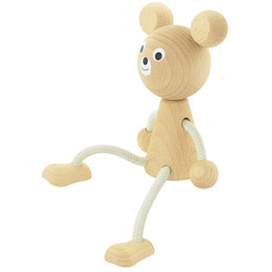 Wooden sitting bear - Sophie