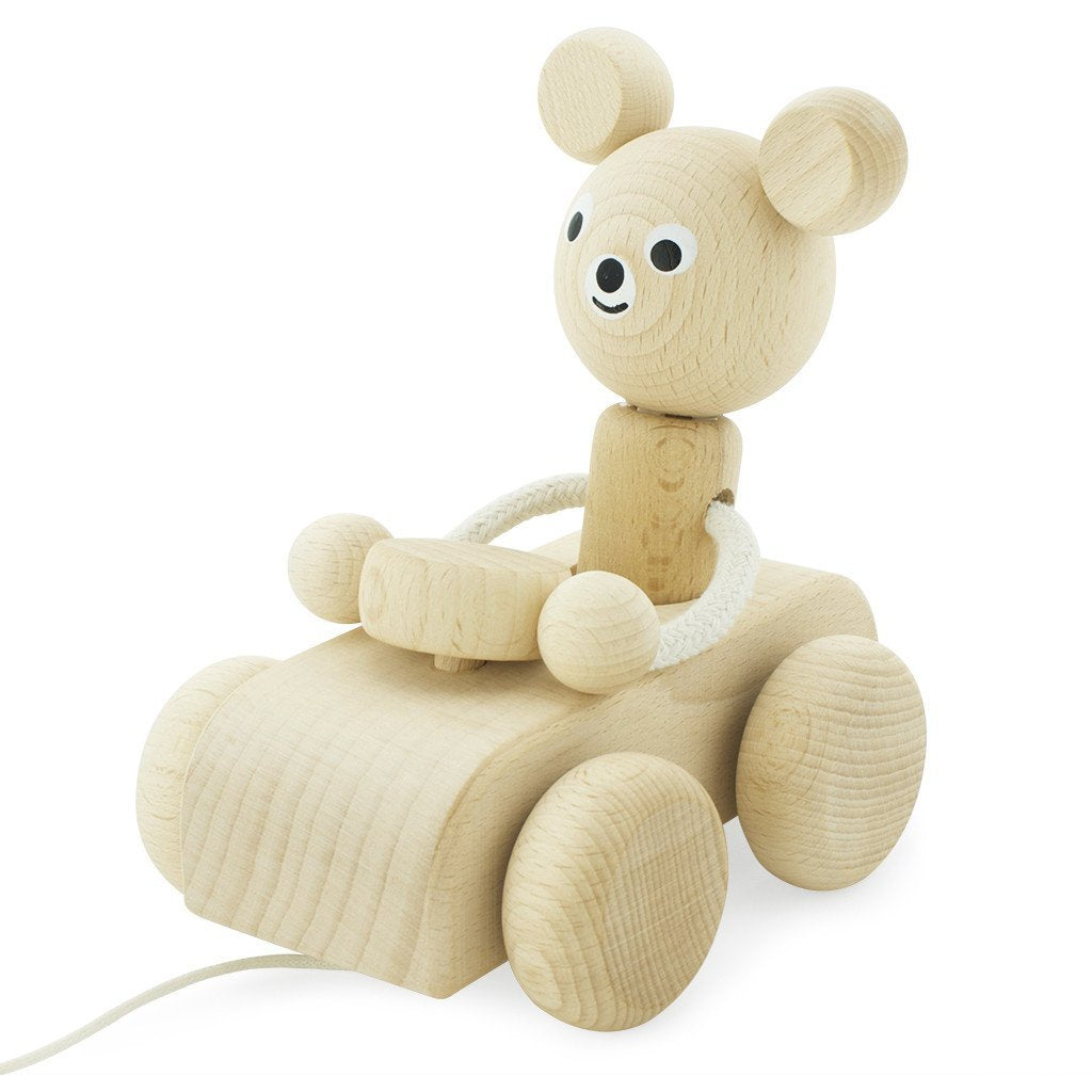 Wooden pull along toy - Teddy