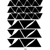 Organic Triangles - wall decals