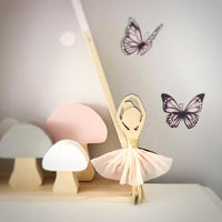 Twirling ballerina wooden decor