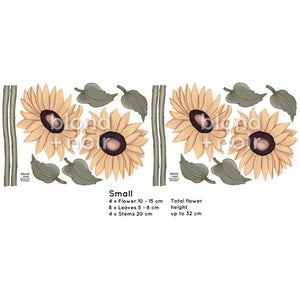 Milla's Sunflowers Small - wall decals