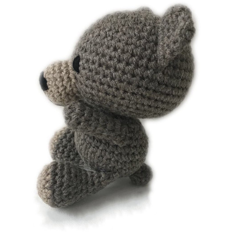Crochet bear rattle - Oscar