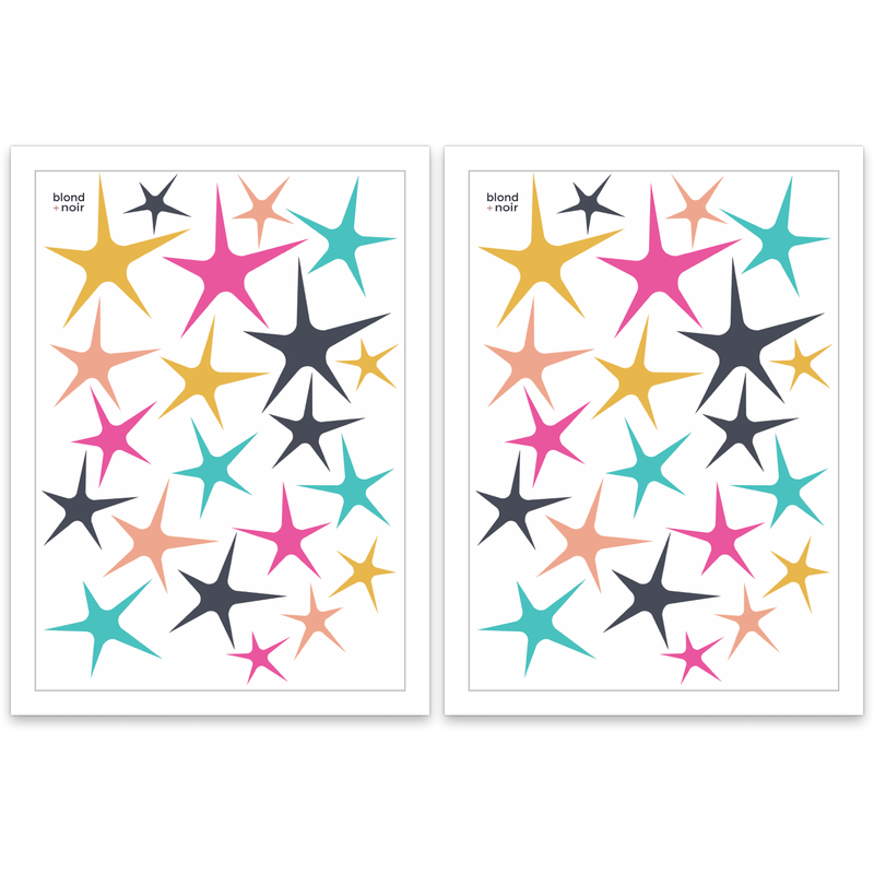 Sweet stars  - wall decals A4