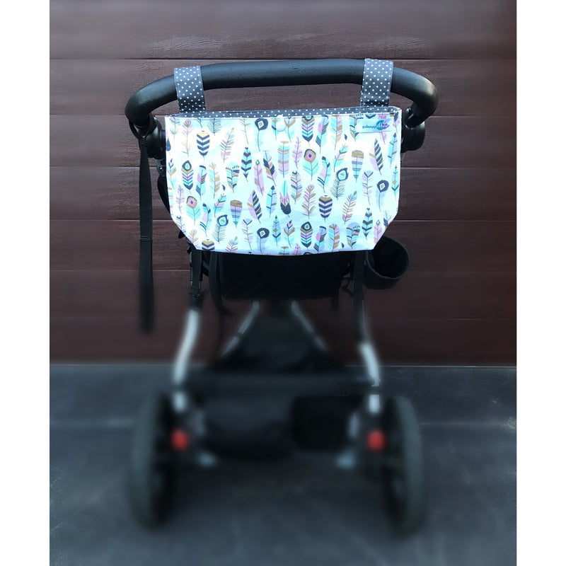 Pram caddy/organizer with dividers