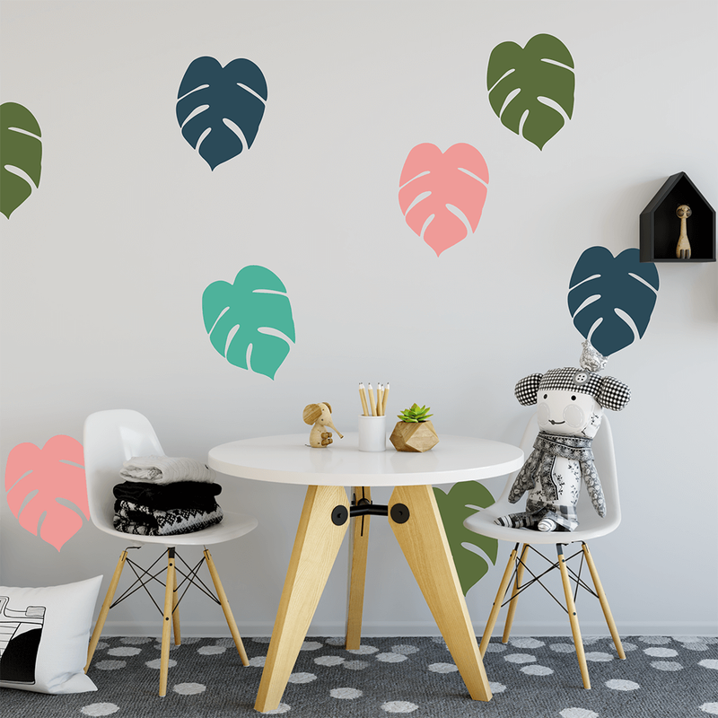 Designer Leaves medium set - wall decals