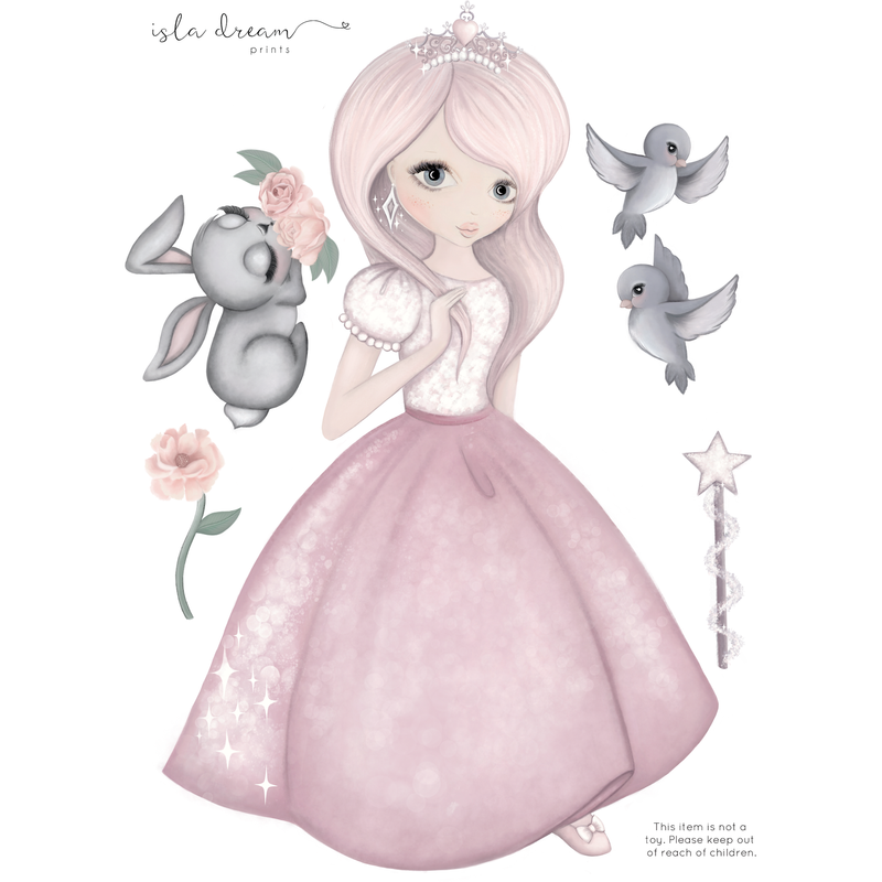 Moonlight, the princess - Wall decals