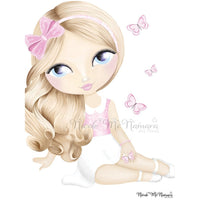 Princess Mackenna - darker colours - wall print