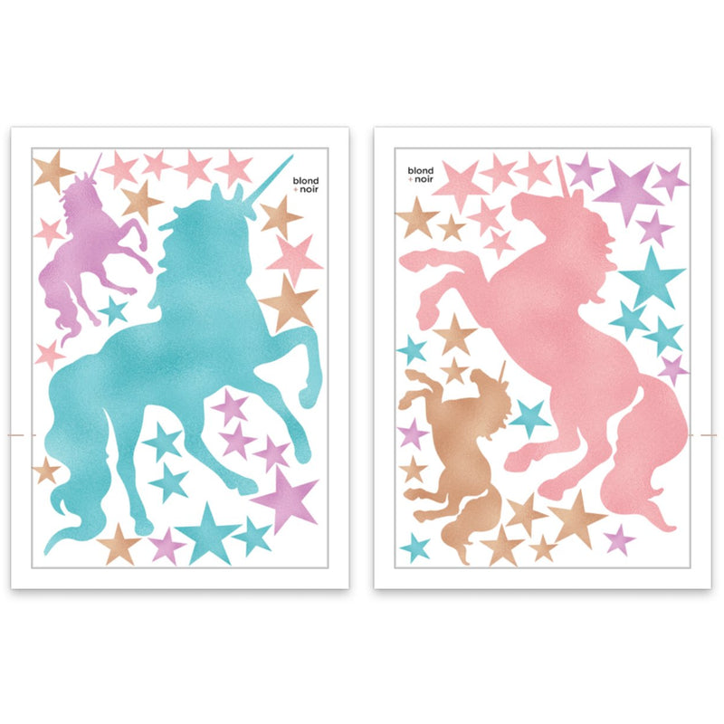 Unicorns & Stars - Wall decals