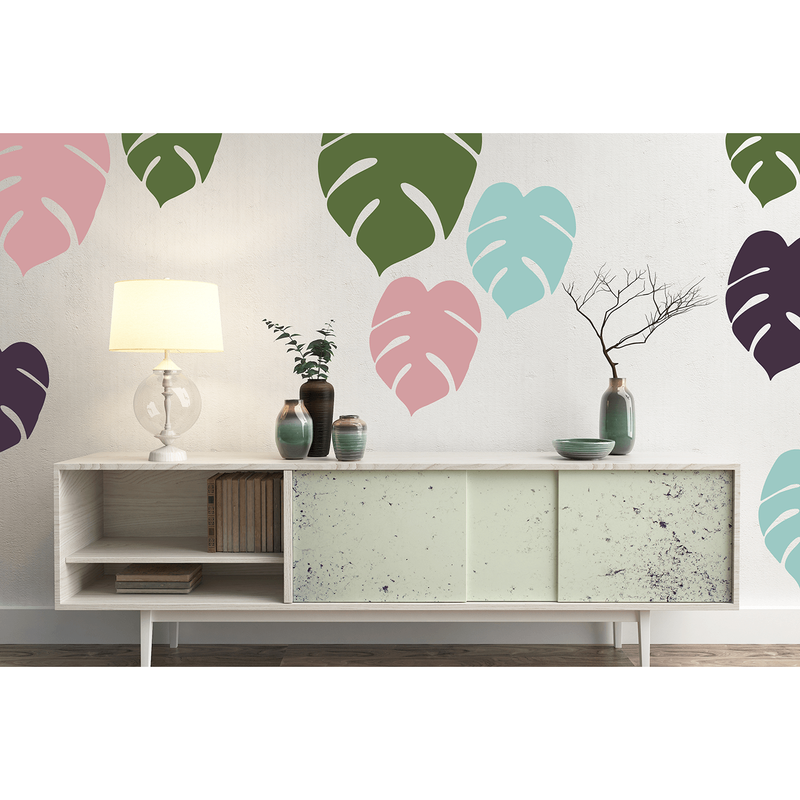 Designer Leaves large set - wall decals
