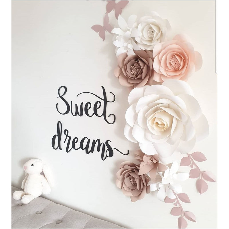Paper flowers - sweet dreams set