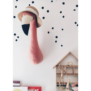 Felt Animal Head - Flamingo