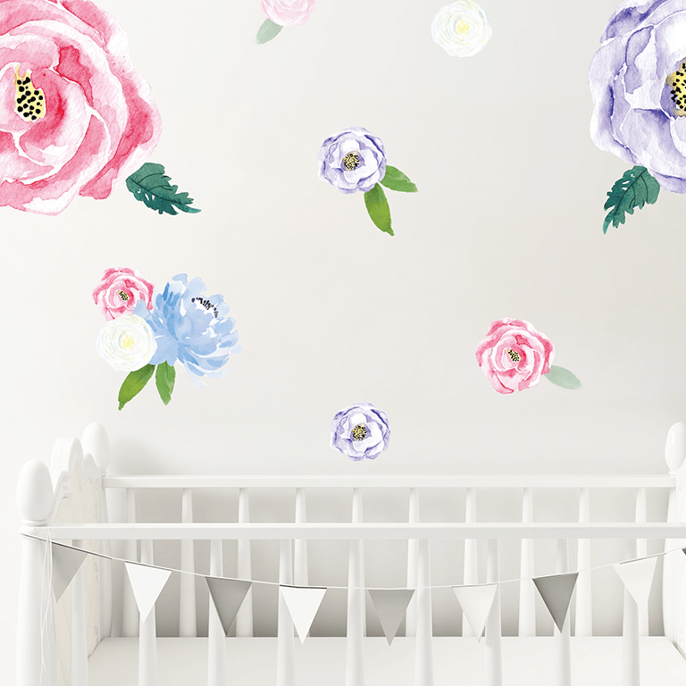 Willow Florals full pack - wall decals