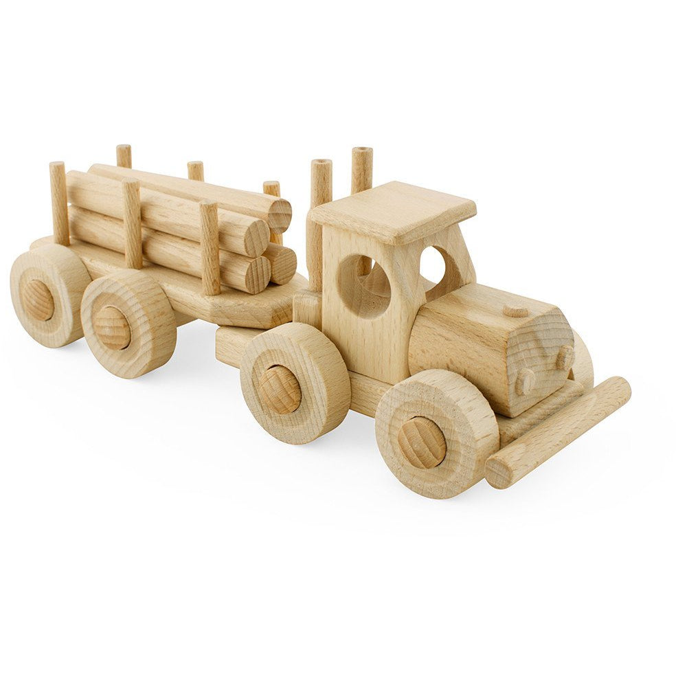 Toby - Wooden truck with trailer