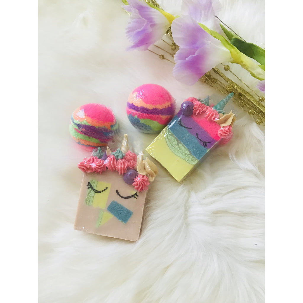 Unicorn Soaps and Bath bombs Pack