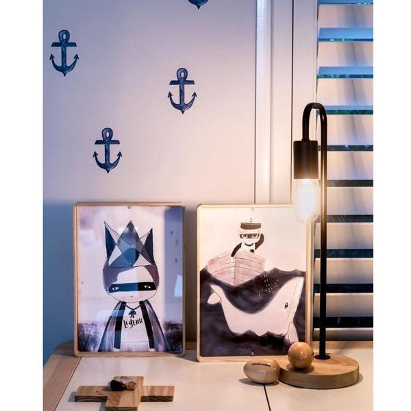 Anchors in watercolour - wall decals IN STOCK