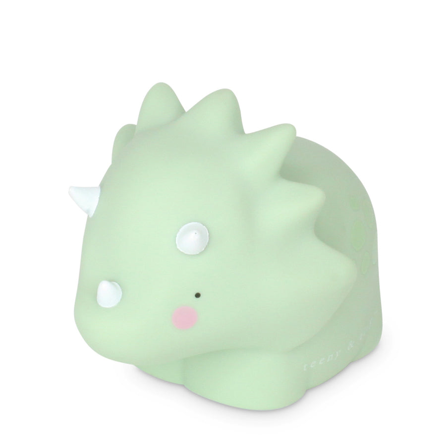 Triceratop little light - small, pastel green