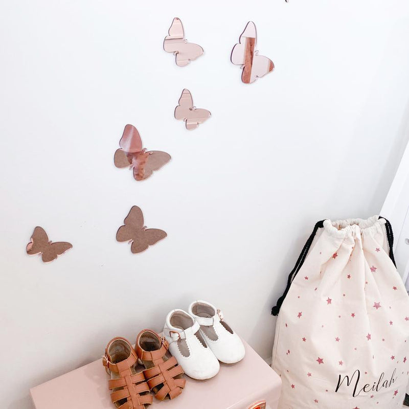 Butterfly wall mate set of 6