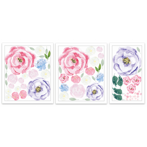 Willow Florals half pack - wall decals