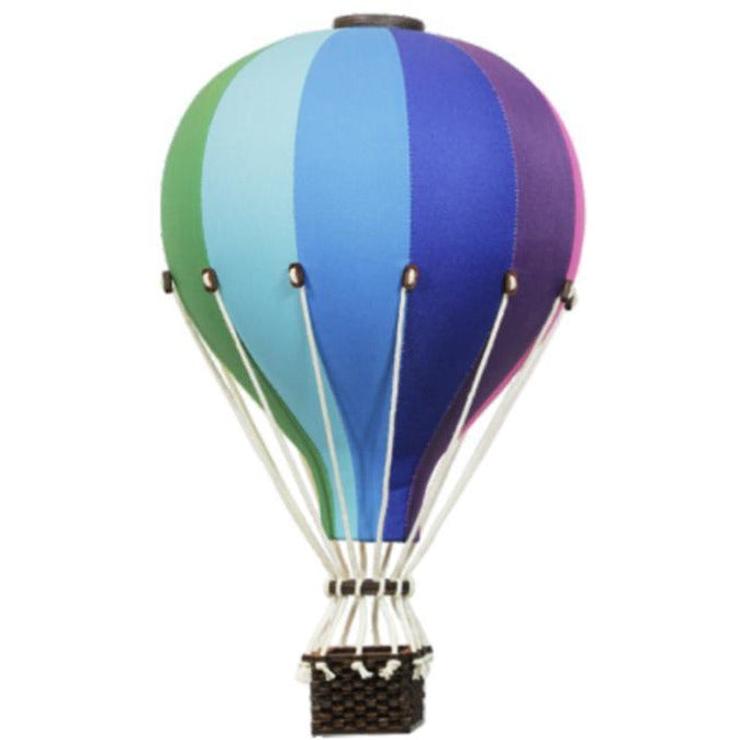 Decorative Hot Air Balloon, medium - Rainbow