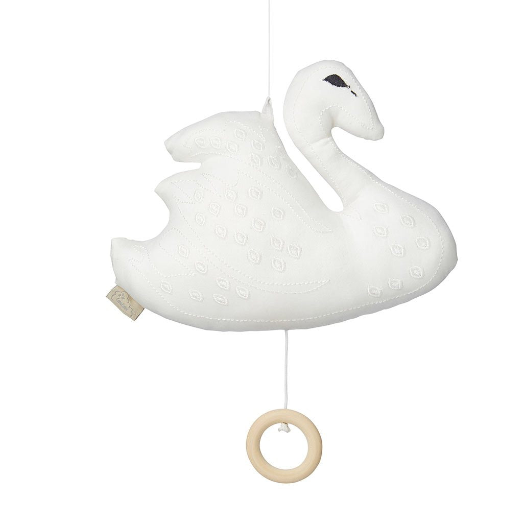 Cam Cam Swan music mobile - white
