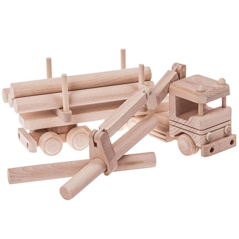 Wooden truck with logs and crane - Montana