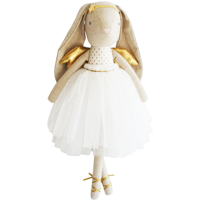 Estelle , Linen Angel bunny - Gold