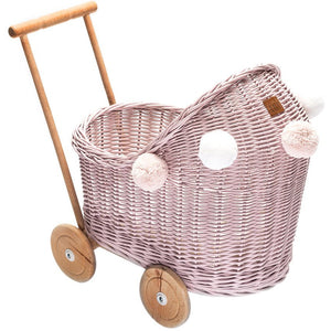 Wicker pram - Dusty pink