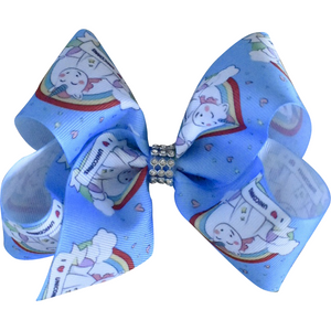Bow - I heart Unicorns grosgrain ribbon