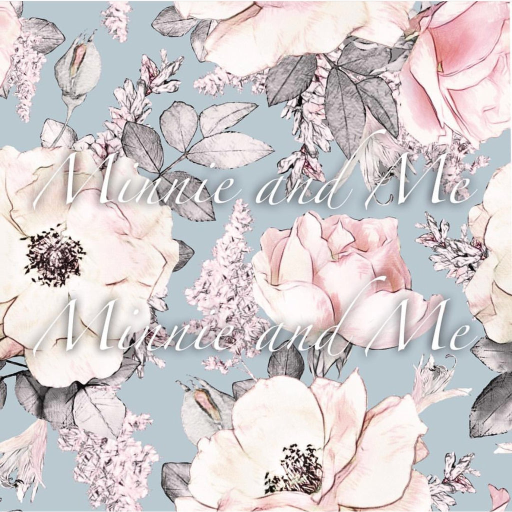 Wallpaper - Peony Garden Duck egg blue