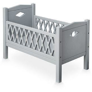 Harlequin doll's bed - grey