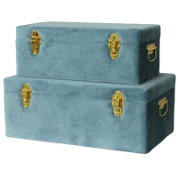 Storage case - Velvet luxe, steel blue