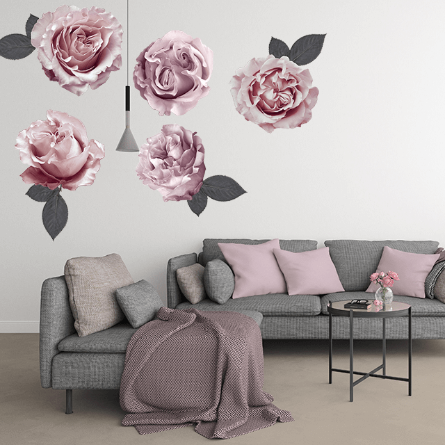 Sofia Florals large -  wall decals