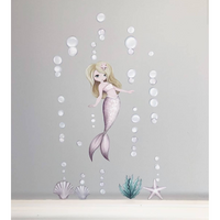 Audrina the Mermeid - Wall decals