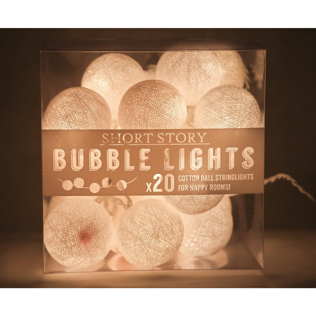 String lights - Cotton balls White