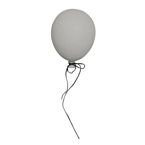 Polyresin balloon wall hanging, large - grey